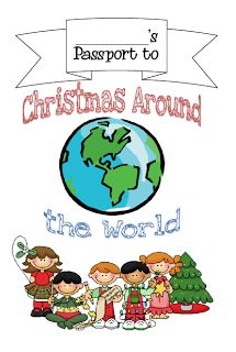 Christmas Around the World (free passport notebooking pages)