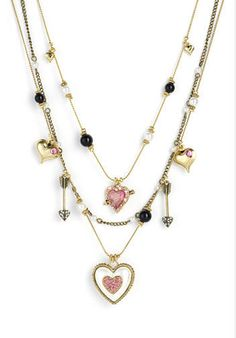 Betsey Johnson 'Betsey's Dollhouse' Heart Illusion Necklace