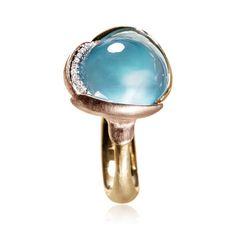 Lotus, ring i guld m. Lotus Ring, Pomellato, Fashion Story, Mother Pearl, Lorraine, Gemstone Rings, Fine Jewelry, Objects, Copenhagen