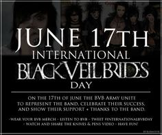 Must partake on International Black Veil Brides Day!! Mark your calenders and spread the word! @Ryleigh