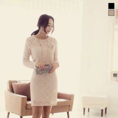 Buy 'J-ANN – Long-Sleeve Lace Dress' with Free International Shipping at YesStyle.com. Browse and shop for thousands of Asian fashion items from South Korea and more!