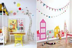DIY wallpaper houses for playroom