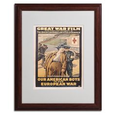 Our American Boys by Victor Tardieu Matted Framed Vintage Advertisement