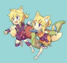 Vocaloid Kagemine Rin and Len