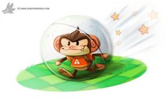 Daily Painting #912 Super Monkey Ball by Cryptid-Creations.deviantart.com on @DeviantArt