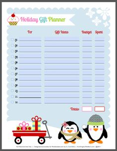 Holiday Labels set with Penguins by Anythingbutperfect.com | Worldlabel Blog