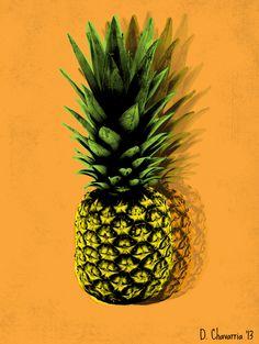 Pineapple Pop Art by Danielle Chavarria, via Behance