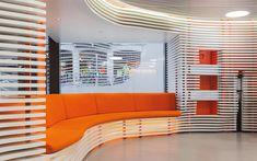 We are a global and creative design studio in Geneva, Tokyo and Beijing. Retail Facade, Orange Sofa, Retail Experience, Shop Windows, Retail Interior, Retail Space, Retail Design, Geneva, Creative Design