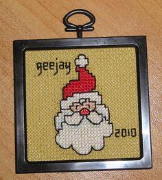 xs_Santa Ornament 2010   Flickr - Photo Sharing!  cross stitch santa