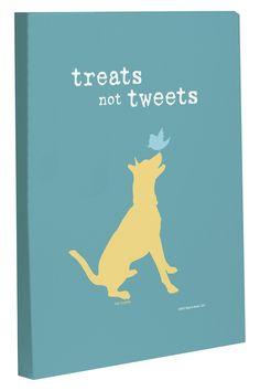 Treats Not Tweets Canvas