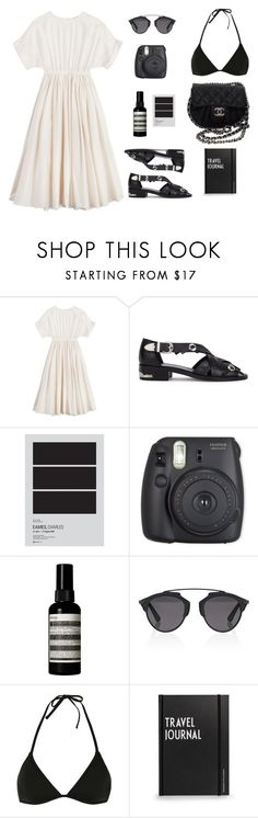 """""""Pack and go"""" by emmaenderlein ❤ liked on Polyvore featuring BLACK CRANE, Toga, Aesop, Christian Dior, Topshop, Design Letters, Chanel, Summer, Vacay and Packandgo"""