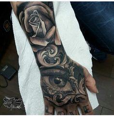 PINTEREST: @LOVEMEBEAUTY85 Lion Tattoo Sleeves, Sleeve Tattoos, Neck Tattoos, Future Tattoos, Tattoos For Guys, Hand Tats, Tattoo Designs Men, I Tattoo, Tatting
