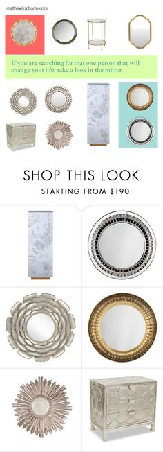 """Mirror, mirror"" by matthewsfav on Polyvore featuring interior, interiors, interior design, home, home decor, interior decorating, Brownstone, Jonathan Adler and Surya"