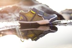 PLAE kid tough. 'dude-approved' kicks for kids. PLAE kids shoes. summer shoes with active design, active shoes for very active kids. http://www.goplae.com/shop/ty-eco-poly-mesh-steel-yellow