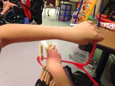 Needed for effective fine motor skills: crossing midline, proprioception (joint/limb awareness), shoulder/finger strength, endurance, visual tracking . Be creative with clothes pins:  Matching upper and lowercase letters right next to each other, counting/placing numbers in order, color coding, etc. Adhd Brain, Brain Gym, Gross Motor Activities, Sensory Activities, Crossing Midline, Sensory Equipment, Upper And Lowercase Letters, Vision Therapy, Pediatric Ot