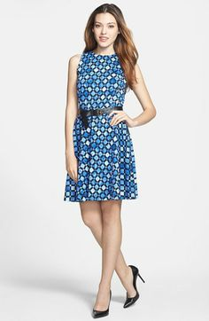 rehearsal MICHAEL Michael Kors Print Ponte Knit Circle Dress available at #Nordstrom