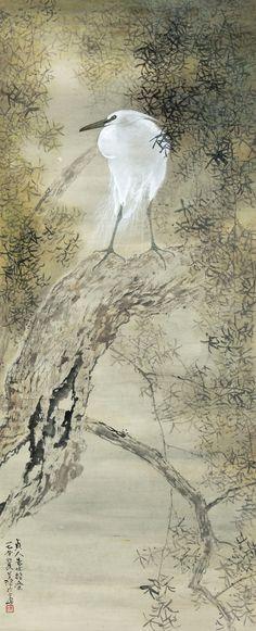 Yang Shanshen (1913-2004) WHITE EGRET