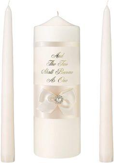 Lillian Rose Wedding Ceremony Unity Candle Ivory Pearl Set