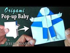 Origami Baby Pop-up Card - YouTube