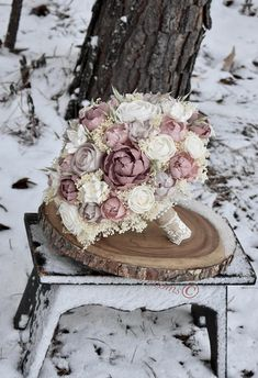 Wedding Bouquet Dusty Pink Mauve Bouquet Blush Pink Bouquet
