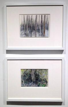"Alice Valenti ""Orange in the Trees"" Graphite, Ink, & Gouache on Paper, 2013, 6""x 8"" ""Green Woods"" Graphite, Ink, & Gouache on Paper, 2012, 5""x 7 ½"" #art #landscape"