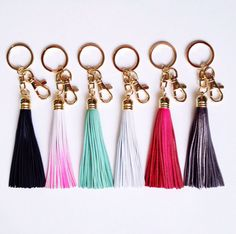 Cute and fun leather tassel keychains - choose from thirteen colours, just select which youd like from the drop down menu!    All BHEARTB tassels are
