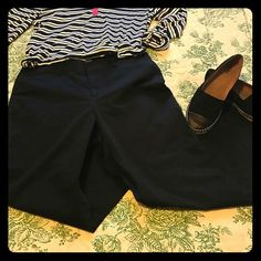 "Black Dockers pants Can be dressed up or more casual, these considered the ""ideal fit"" pants.  Excellent gently used condition.  Staple for every closet! Dockers Pants Straight Leg"
