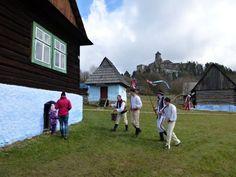 Stará Ľubovňa Open Air Museum and Castle above, Prešov region, Slovakia