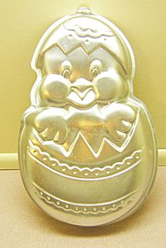 Easter Chick in Decorated Easter Egg Wilton Cake Pan