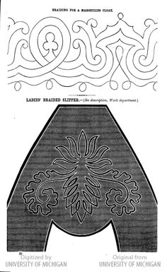 soutache embroidery pattern--for a toe pattern?