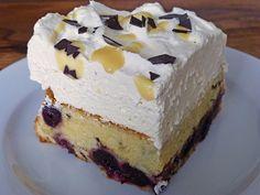 blechkuchen Cherry - Eggnog - Sheet Cake with Sour Cream 8 Apple Desserts, Holiday Desserts, Easter Dinner Recipes, Sour Cream Cake, Recipe Filing, Creamy Peanut Butter, Cheesecake Recipes, Baking
