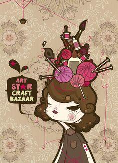 Art Star Craft Bazaar - Illustration by Julie West