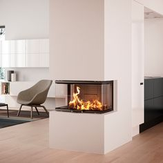 Find your new fireplace in a beautiful design that creates a warm centrepiece in your home. Get Scandinavian quality with a fireplace insert - RAIS Ethanol Fireplace, Stove Fireplace, Fireplace Inserts, Piece A Vivre, Wood Burner, Modern Fireplace, Interior Design Living Room, Innovation, New Homes