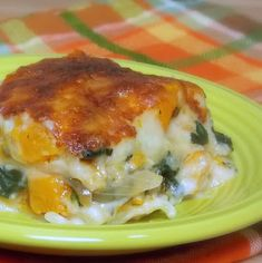 Butternut Squash Lasagna with Caramelized Onions and Spinach #comfortfood #cassserole #pasta
