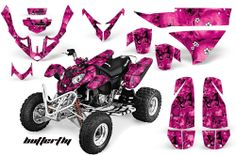 Skulls & Butterflies POLARIS ATV Graphics Kit