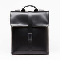 Sac à dos, cuir noir 35 x 55 x 16 cm