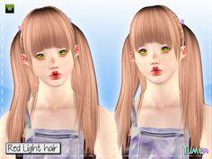 Yume - Red Light hairstyle by Zauma for Sims 3 - Sims Hairs - http://simshairs.com/yume-red-light-hairstyle-by-zauma/