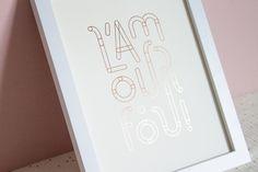 Affiche en dorure L'amour fou • Illustration by Plaisant Plaisir • Etsy
