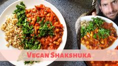 Vegan Shakshuka | HEALTHY Shakshuka Recipe | Simple Plant Based Shakshuka Shakshuka Recipes, Plant Based Eating, Meatless Monday, One Pot Meals, Plant Based Recipes, Chana Masala, Whole Food Recipes, Vegetarian Recipes, Veggies