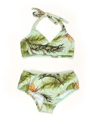 Popupshop - Groene bikini met hawaiprint