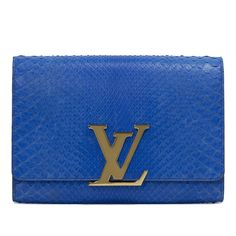 Louis Vuitton Blue Python Louise GM - modaselle Python, Cartier, Designer Handbags, Continental Wallet, Rolex, Chanel, Louis Vuitton, Luxury, Blue