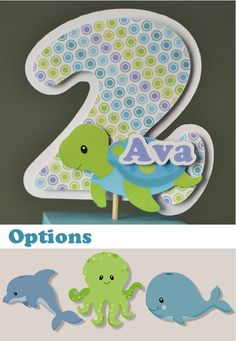 Under the Sea Birthday Party Decoration Centerpiece Candy Dispenser - Turtle, Dolphin, Whale, Octopus