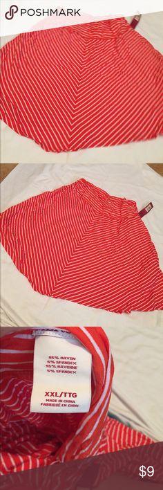 Double xl stripe skirt Orange with white stripes skirt Merona Skirts Mini