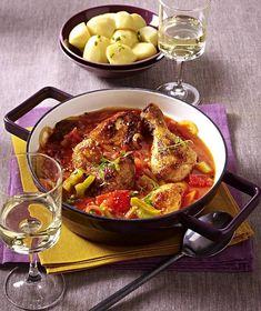 Unser beliebtes Rezept für Baskisches Paprika-Hähnchen und mehr als 55.000 weitere kostenlose Rezepte auf LECKER.de.