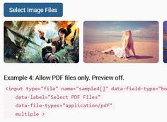 Bootstrap File Field is a jQuery plugin which lets you create a highly customizable file input with file preview and multiple selection using Bootstrap styles.