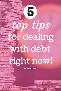 Are you in debt? Do you feel like you are drowning because of your financial situation? Here are five things you can do NOW to start your journey to financial freedom and getting out of debt. Click through for these quick hints and tips.