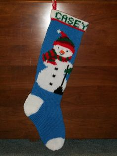 PDF Pattern Only Hand Knitted Snowman with Scarf Christmas