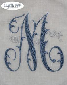 Elisabetta ricami a mano Monograms, Hand Embroidery, Empty, Brain, Hands, Art, Acanthus, Spring, The Brain