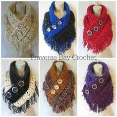 Crochet Fringe Triangle Scarf Free Pattern | Traverse Bay Crochet