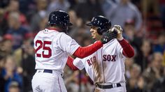 4/20/2016: Jackie Bradley Jr. and Mookie Betts celebrate. May I have this dance?